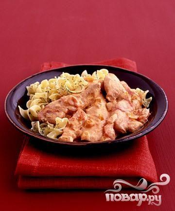 Курица с соусом из паприки