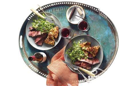 Говяжий стейк с беконом и картофелем