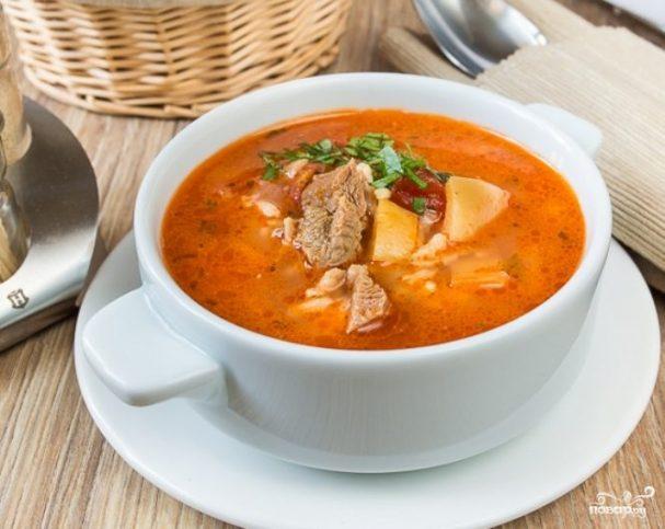 суп томатный рецепты со свининой
