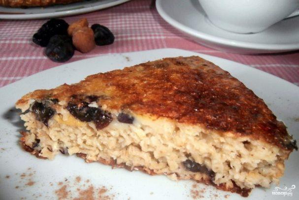 Творожный пирог с сухофруктами