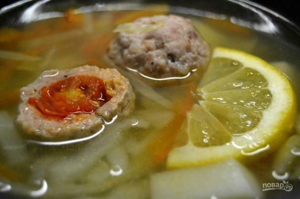 Суп с необычными фрикадельками