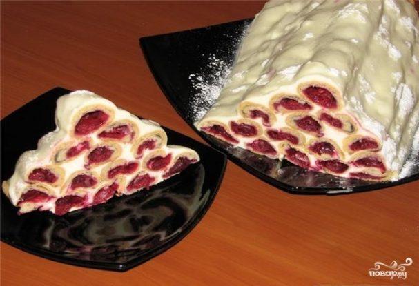 Рецепт вишня под снегом рецепт с фото