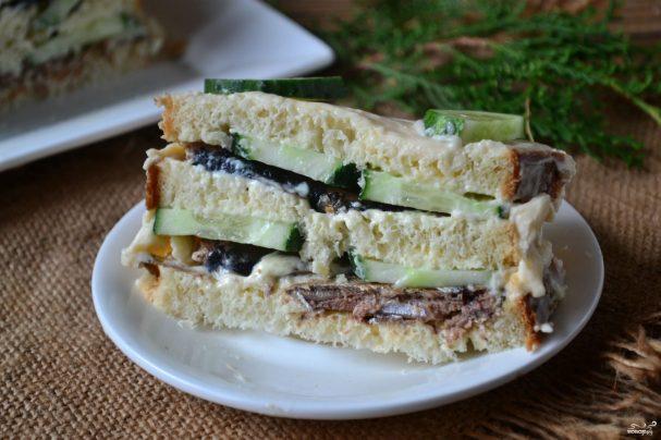 Рецепты с фото бутербродных тортов