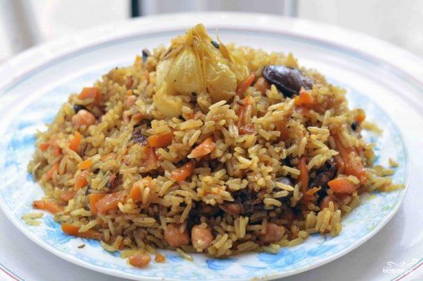 плов со свининой рецепт с фото пошагово в кастрюле с рисом