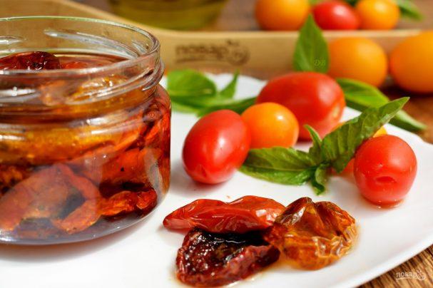 Вяленые помидоры в духовке (на зиму)