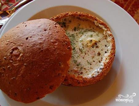 Суп в горшочке из хлеба