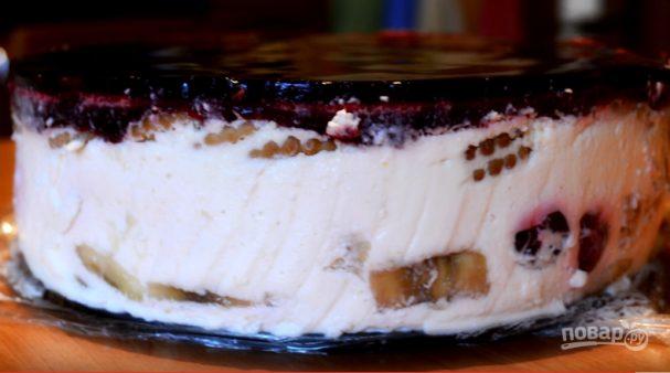 Торт-десерт творожный с желе