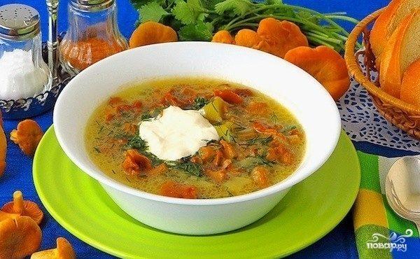 Суп грибной из лисичек