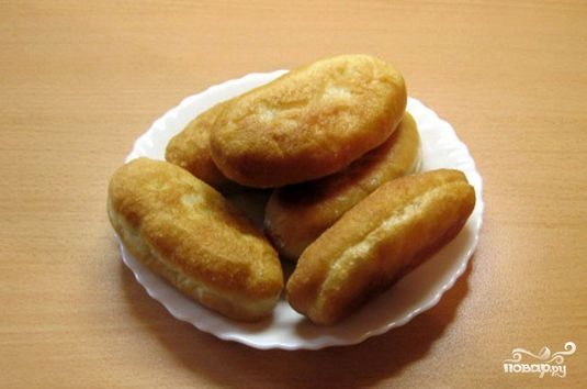 Пирожки с капустой на сковороде