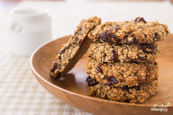 Постное печенье с сухофруктами