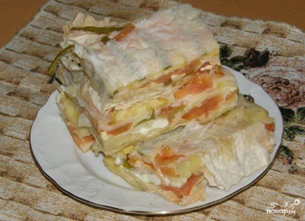 Торт из лаваша рецепты с фото пошагово