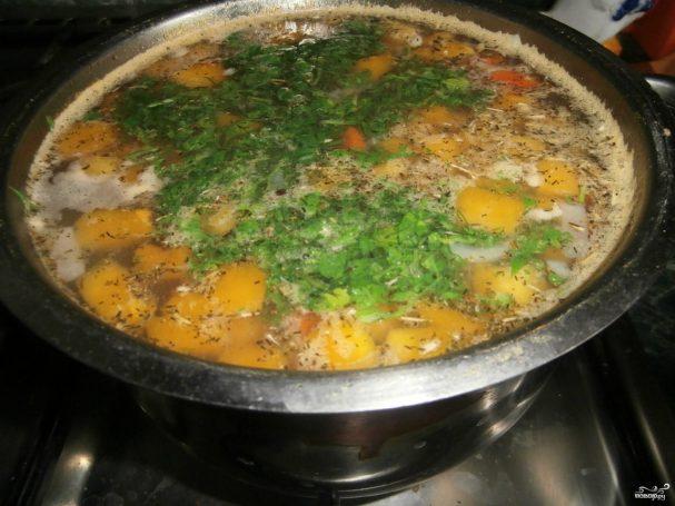 Тыквенный суп с курицей