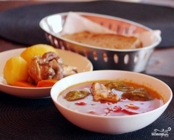чувашского шурпе Рецепт блюда