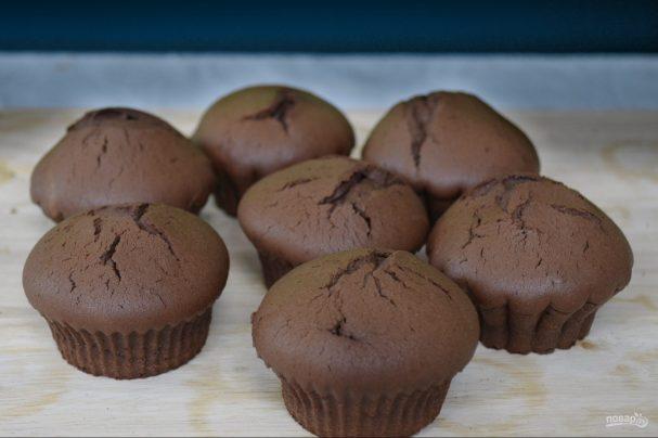 Шоколадные кексы в духовке и мультиварке