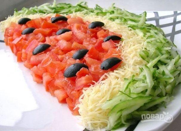 Долька арбуза салат рецепт