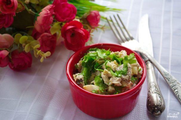 Салат оригинальный с курицей