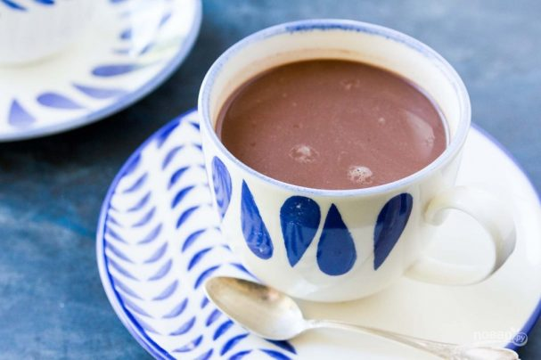 Какао из шоколадного сиропа