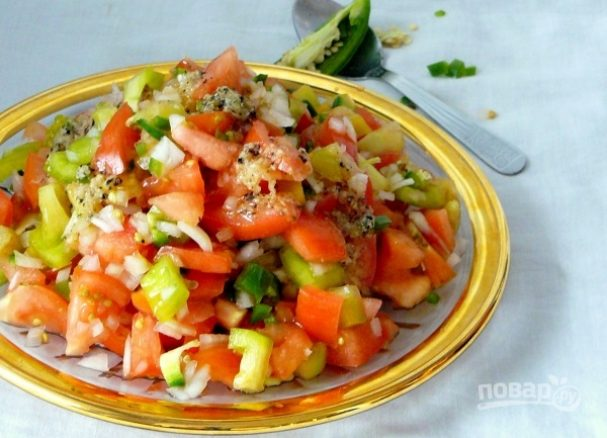 Эфиопский помидорный салат