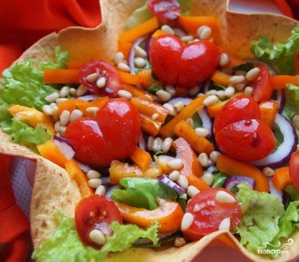 овощной салат с бальзамическим уксусом рецепт