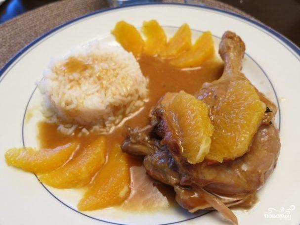 Тушеная утка с рисом