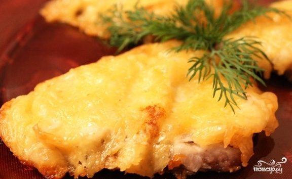 Запеченное мясо с сыром