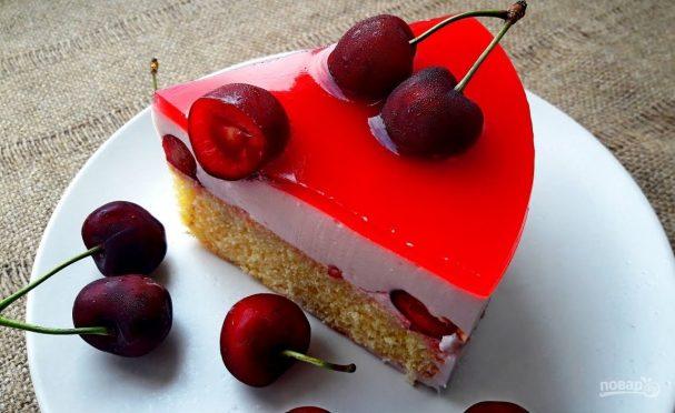 Муссовый торт с черешней