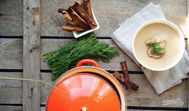 Сливочно-грибной суп-пюре