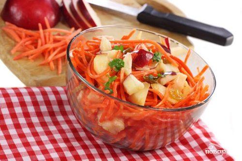 Салат из моркови с маслом
