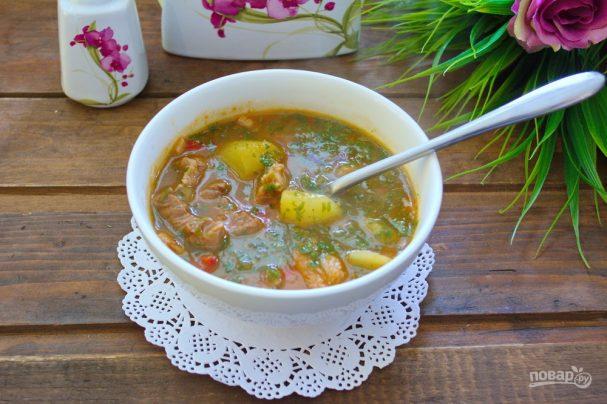 Цыганский острый суп