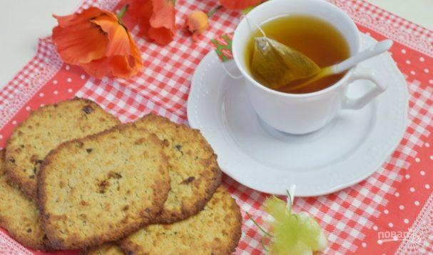 Овсяное печенье с медом на кефире