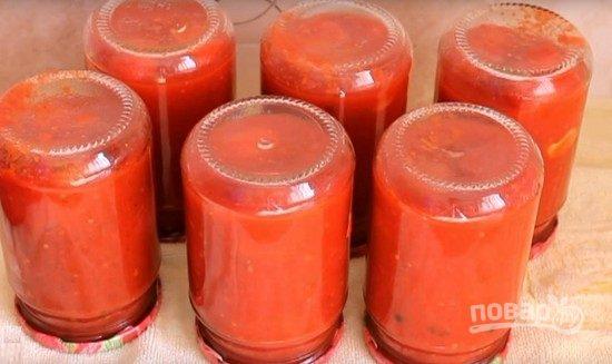 Помидоры на зиму в томатной пасте