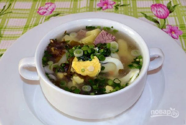 Щавелевый суп на мясном бульоне