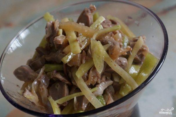 Куриные желудочки по корейски рецепт