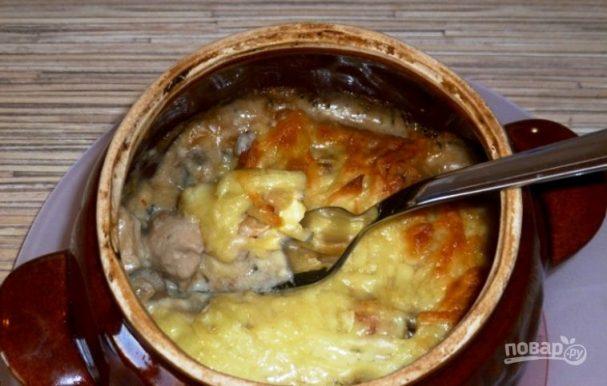 жульен из курицы с грибами рецепт в духовке
