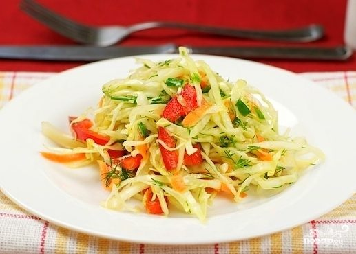 рецепт салата в лаваше с болгарским перцем