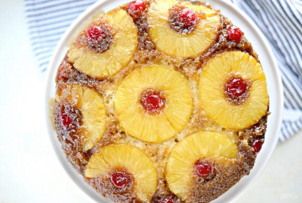 Перевёрнутый ананасовый кекс