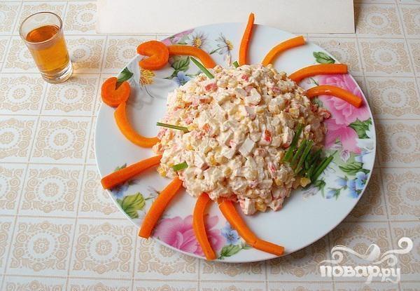 салат крабовые палочки морковь