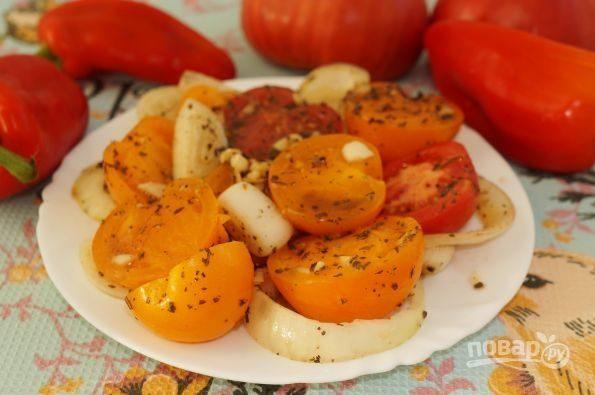 Ароматная закуска из помидоров