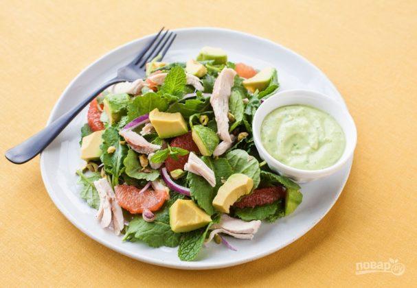 Салат с авокадо (вкусный рецепт)