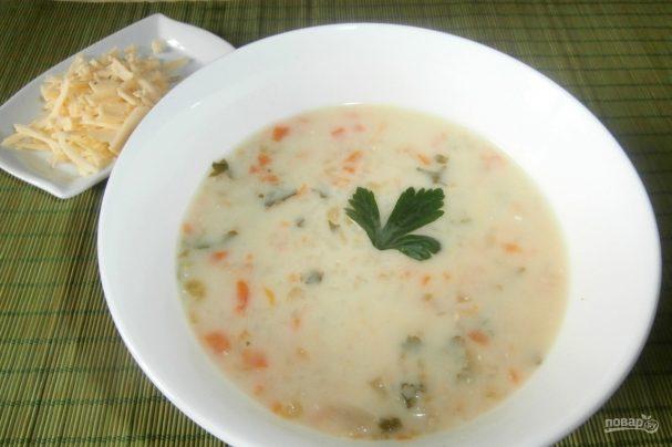 Американский сливочный суп с бурым рисом