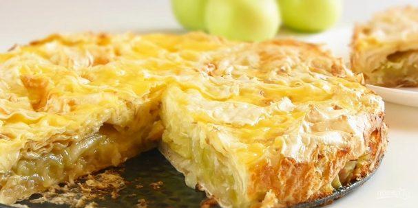 Быстрый и простой яблочный пирог