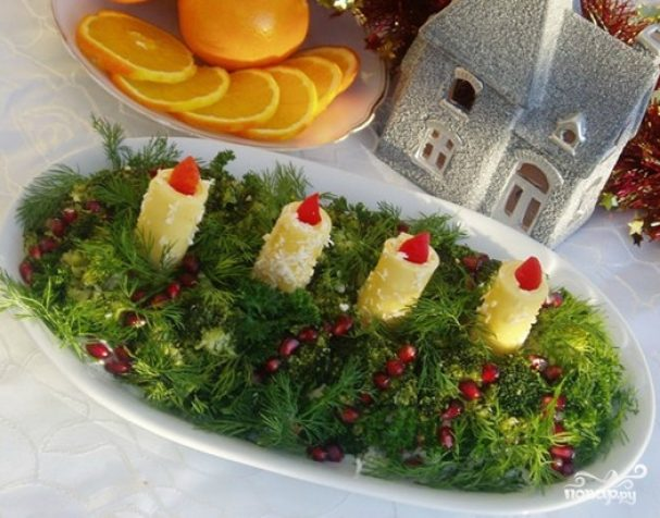 "Новогодний салат ""Адвент"""
