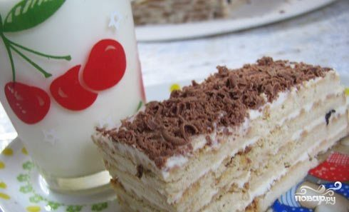 Детский торт без выпечки