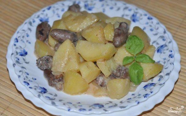 Картошка с сердечками куриными