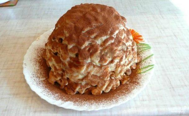 Торт из печенья без выпечки со сгущенкой