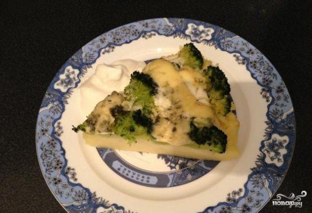 Картофельная запеканка с брокколи и сыром