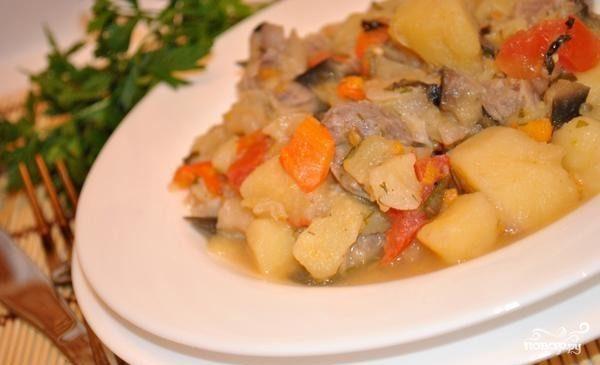 Картофель с мясом и овощами