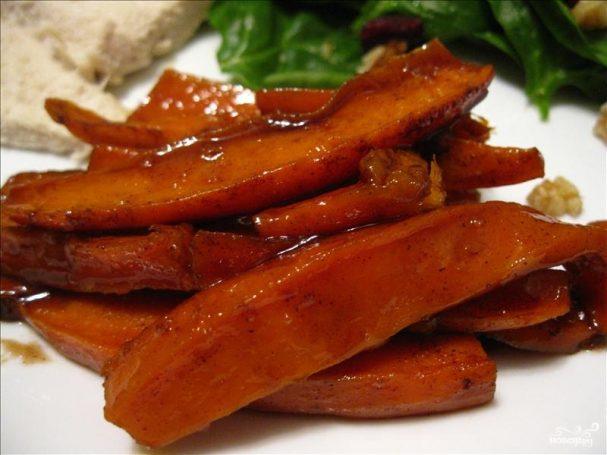 Сладкий картофель в карамели