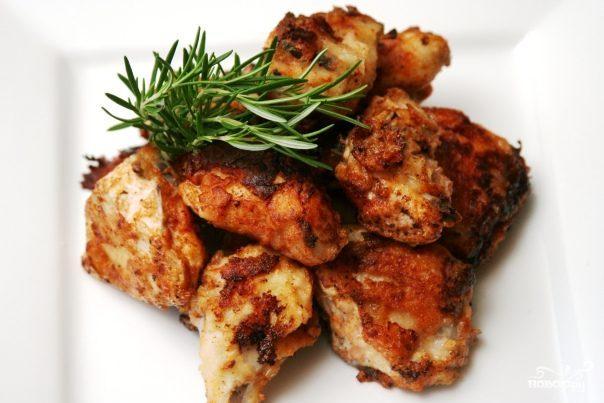 курица жареная кусочками на сковороде пошаговый рецепт