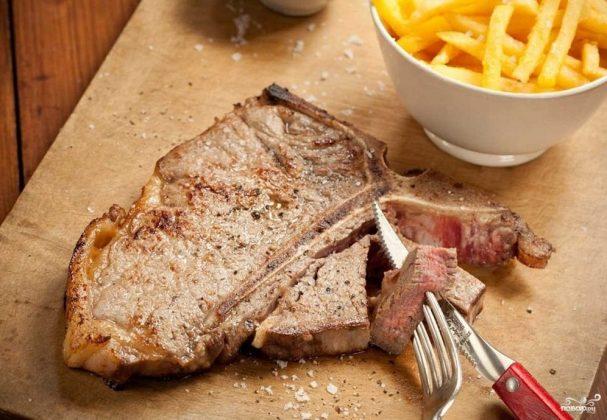 Антрекот из свинины в мультиварке рецепт пошагово 33